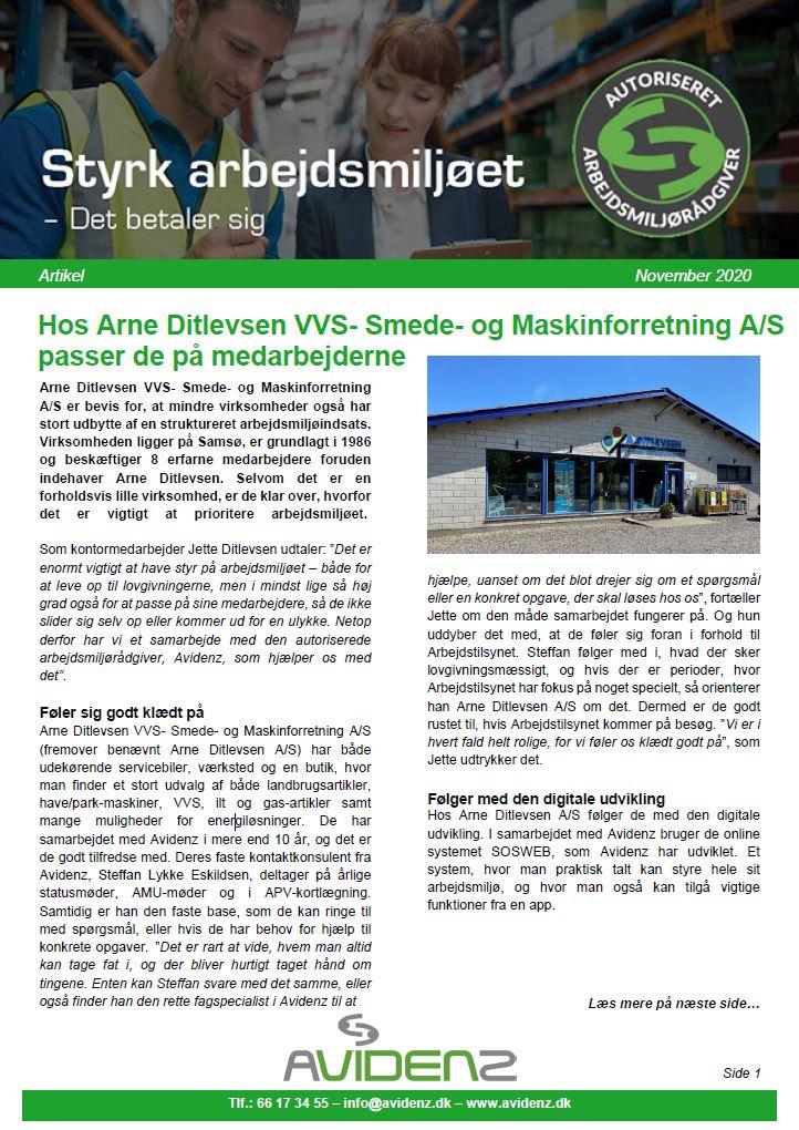 Hos Arne Ditlevsen VVS passer de på medarbejderne